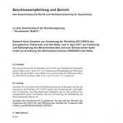 thumbnail of Deutscher Bundestag Beschlussempfehlung und Bericht zum neuen Gesetzesentwurf zu 2011 36 EU (2016)