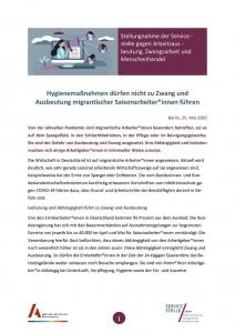 thumbnail of 20200525 Stellungnahme der Servicestelle zu Auswirkung von COVID19 auf MHA final
